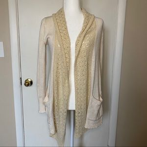 Angel of the North Cream knit sweater cardigan S